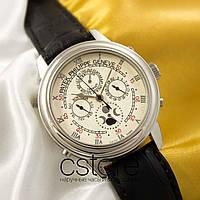 Мужские наручные часы Patek Philippe sky moon silver white (05038), фото 1