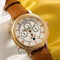 Мужские наручные часы Patek Philippe sky moon gold white (05039)