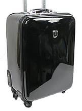 Чемодан малый из искусственной кожи 54 л Falami G16-1 черный