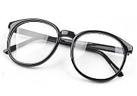 Имиджевые очки, очки с прозрачной линзой круглые большие
