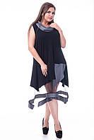 Платье черное нарядное с сеткой