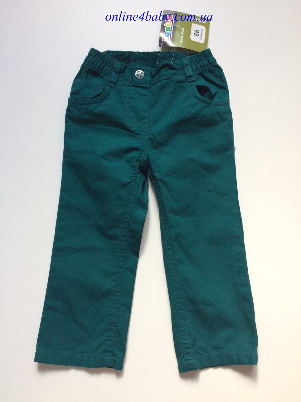 Лёгкие детские брюки Lupilu на девочку 1-1,5 года, рост 86
