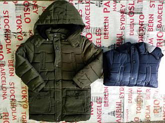 Куртка зимняя   на мальчика  темно синяя  140- 146 см