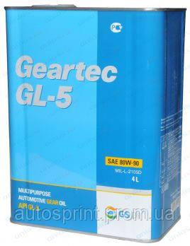 Трансмиссионное масло KIXX GEARTEC 80w90 4л