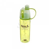 Бутылка для воды 52.2 с распылителем пластиковая зеленого цвета