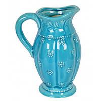 """Глечик керамічний для напоїв """"Блиск"""" YQ102, розмір 27х19х10 см, глечик для води, глечик для молока, глечик для рідин"""