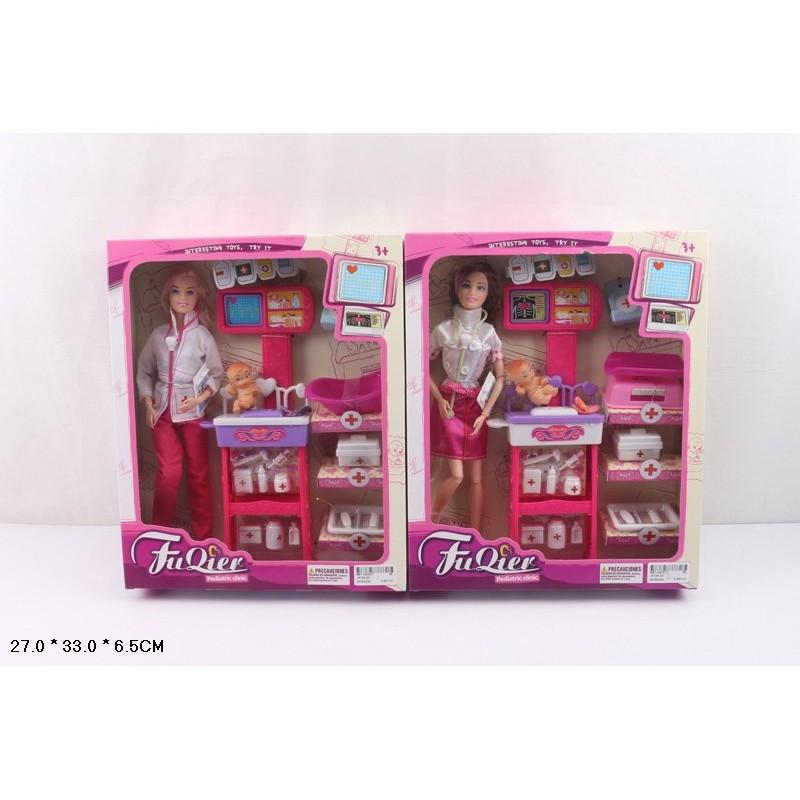 "Кукла типа ""Барби""Доктор"" JX100-23, с мебелью, ребенком, аксессуарами - IQ CITY в Запорожье"