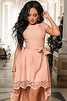 Платье женское с ассиметричной юбкой., фото 1