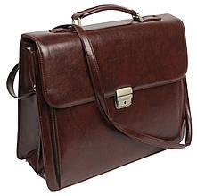Мужской портфель из искусственной кожи OL-547-5678 коричневый