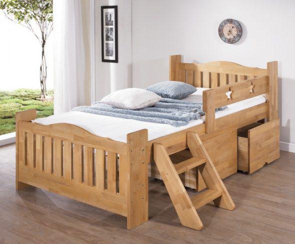 Детская деревянная кроватка натуральный цвет