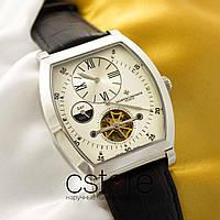 Мужские наручные часы Vacheron Constantin geneve tourbillon silver white (05075)