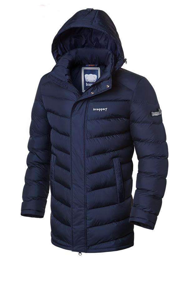 Удлиненная мужская зимняя куртка Braggart (р. 46-56) арт. 2677