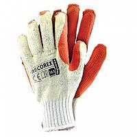 Рабочие перчатки с латексным покрытием RECOREX (упаковка 10 пар)