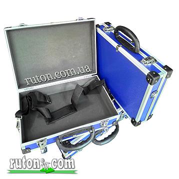 Ящик, кейс, дипломат для косметики, мелочей, инструментов алюминиевый 395*240*90 мм, фото 2