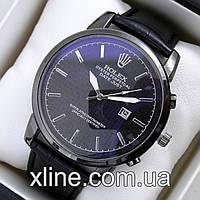 Мужские наручные часы Rolex T07 на кожаном ремешке