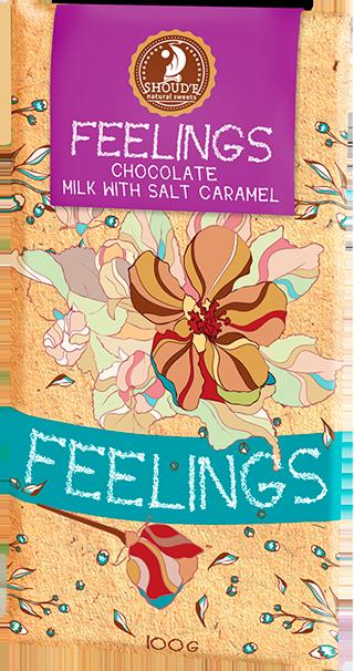 """Шоколад """"Почуття"""" молочный с солёной карамелью 100 г"""