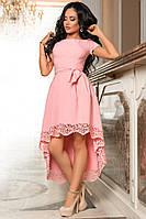 Платье украшенное перфорацией по низу юбки, фото 1