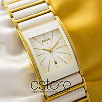 Женские наручные часы Rado integral gold white stones (05089)