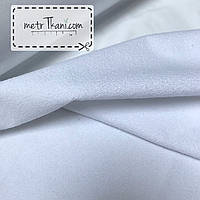 Непромокаемая мембранная,махровая ткань, белого цвета 200 г/м/2 № МНП-2