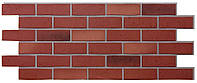 Цокольный сайдинг Docke, серия Берг, цвет вишневый