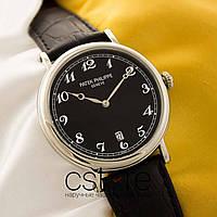 Мужские наручные часы Patek Philippe grand complications silver black (05118)