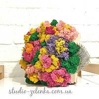 Букет цветов из мха стабилизированного.