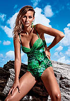 Слитный купальник с принтом листьев  Miss Marea 18403 48 Зеленый MissMarea 18403