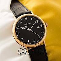 Мужские кварцевые часы Breguet classique gold black (05122)