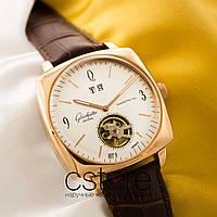 Мужские наручные часы Glashutte Original sixties square gold white (05123), фото 1