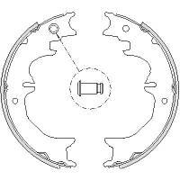 Гальмівні колодки задні (барабанні) TOYOTA LAND CRUISER (REMSA RS 4727.00)