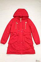 Парка для девочки ярко-красная (170 см.)  Anernuo 2129000402992