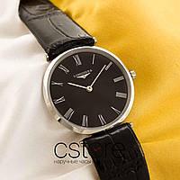 Женские наручные часы Longines classique silver black (05142)