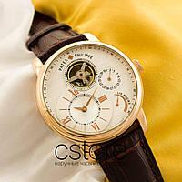 Мужские наручные часы Patek Philippe gold white (05148)