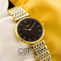 Женские наручные часы Longines presence gold black (05150)