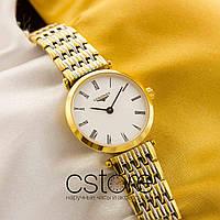Женские наручные часы Longines presence gold white (05152)