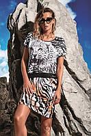 Женское пляжное платье с притном Miss Marea 18418 44(M) Черно-Белый MissMarea 18418