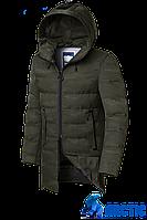 Мужская длинная зимняя куртка большого размера (р. 48-62) арт. 9017А