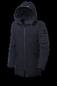 Мужская черная зимняя куртка большие размеры (р. 48-62) арт. 9006Н