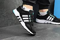 Кроссовки для бега Adidas Equipment, черно - белые, материал - замша+сетка, подошва - пена