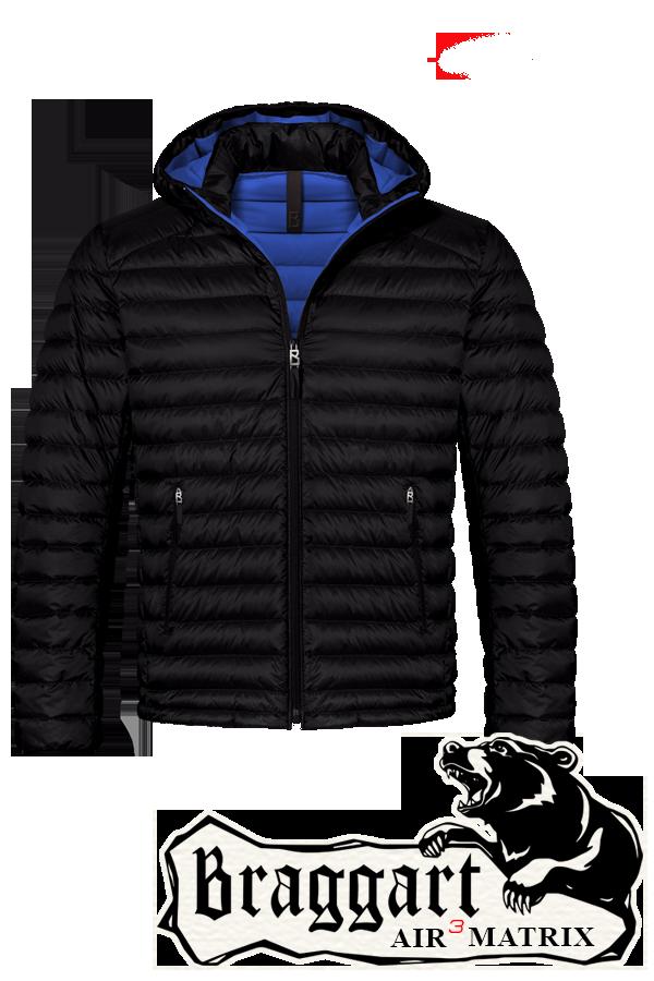 Мужская черная зимняя куртка большого размера (р. 56-62) арт. 3844R