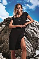 Черная пляжная туника с коротким рукавом Miss Marea 18467 42(S) Черный MissMarea 18467