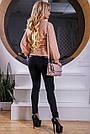 Кофта женская трикотажная персиковая, фото 4