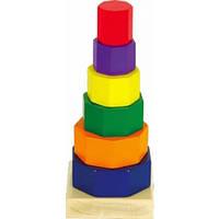 Деревянная пирамидка Восьмиугольник | Деревянная детская пирамидка | Деревянная пирамидка