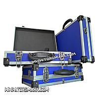 Чемодан для косметики, инструментов, оборудования алюминиевый 395х240х90 мм