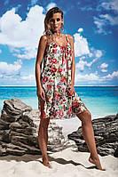 Цветочный пляжный сарафан Miss Marea 18499 42(S) Красный MissMarea 18499