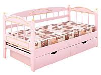 Детская кровать из натурального дерева для девочки