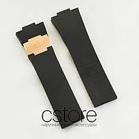 Каучуковый ремешок для часов Ulysse Nardin black gold (05223)