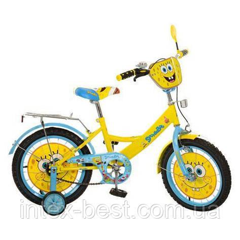 Велосипед детский двухколесный 16 дюймов Profi Спанч Боб 16д. SB164, фото 2
