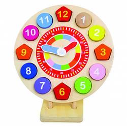 Детские деревянные Часы-пазлы   Деревянная игрушка Часы