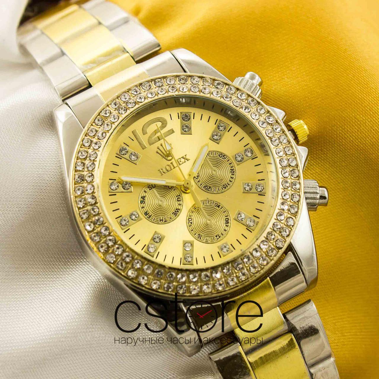 Женские наручные копия часы Rolex gold gold (05273) - megastore.net.ua 644ecf6358f03